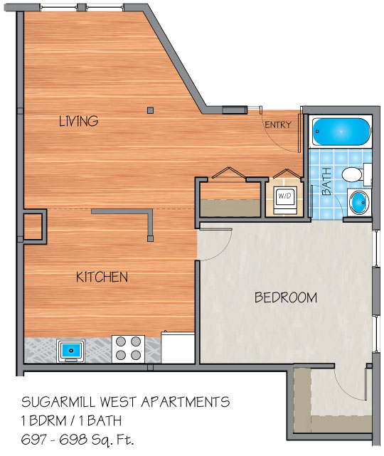 Apartments In Kenner La: Sugar Mill West Apartments In Kenner, LA