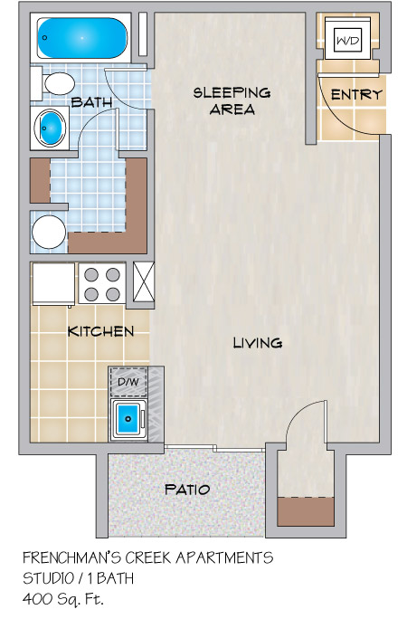 Frenchman\'s Creek Apartments in Metairie, LA - Studio, 1 & 2 ...