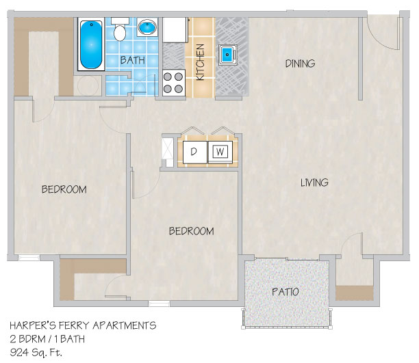 Apartments In Kenner La: Harper's Ferry Apartments In Kenner, LA