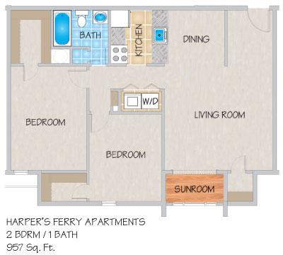 Harper S Ferry Apartments In Kenner La Studio 1 Amp 2