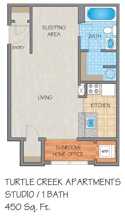 Turtle Creek Apartments in Metairie, LA - Studio, 1 & 2 Bedroom ...