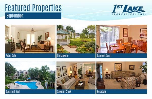 Apartment Specials at First Lake Properties for September 2014