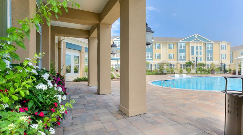The pool at Bella Ridge apartments in River Ridge is perfect for relaxing this summer.
