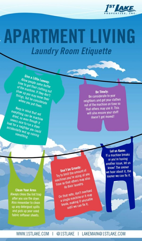 1st Lake | Apartment Laundry Room Etiquette [Our Top 5 Tips]