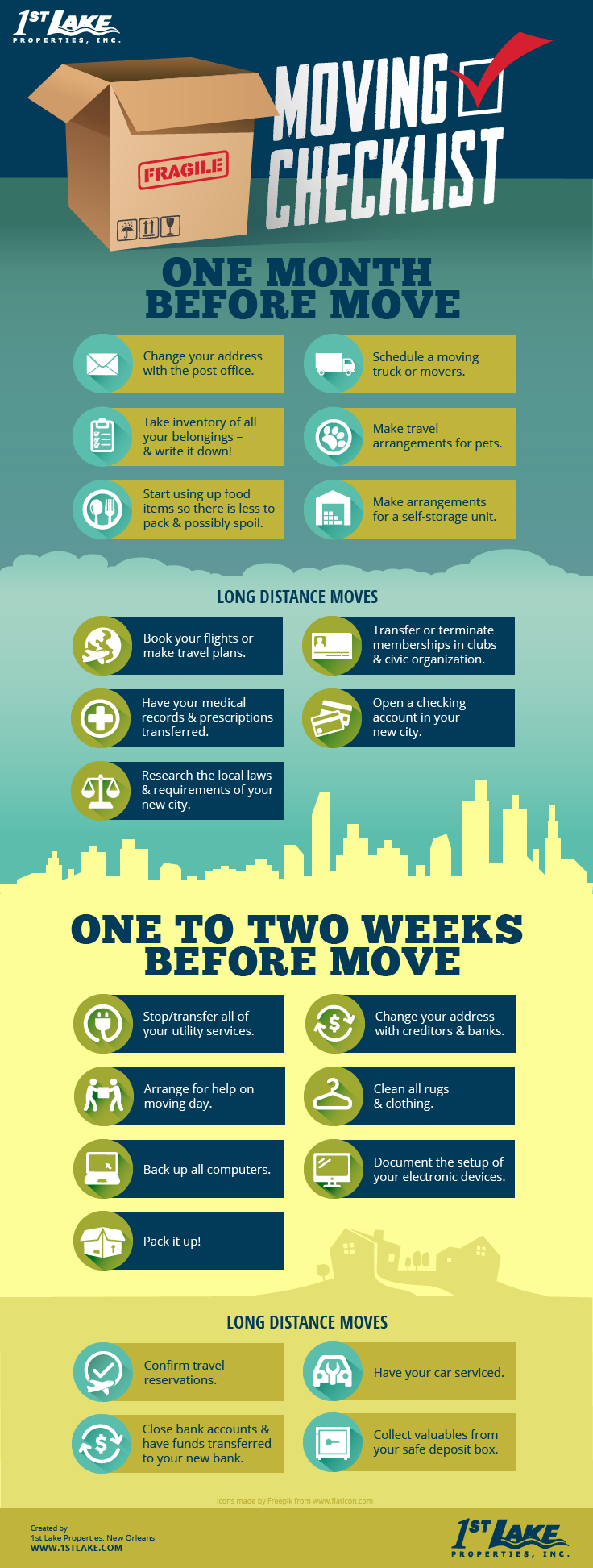 Moving Tips Checklist Infographic