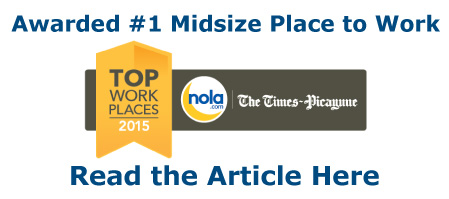 1st Lake Properties was awarded #1 Midsize Place to Work by NOLA.com.